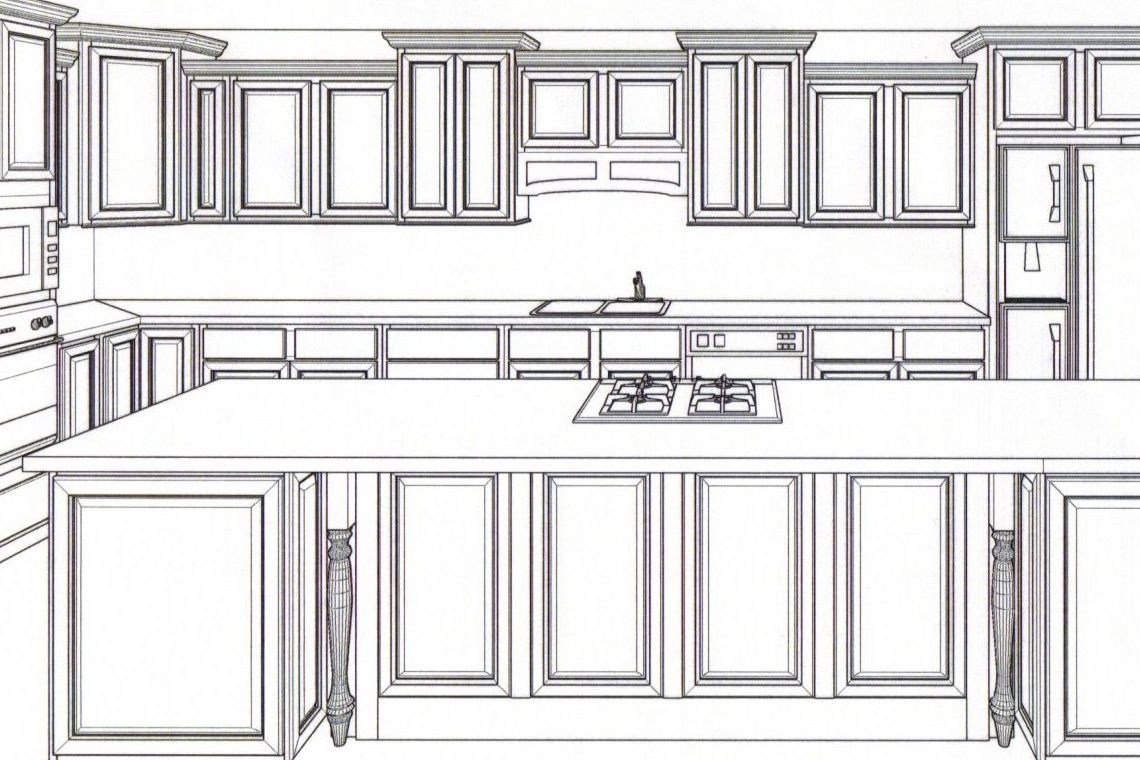 Cabinets Front Elevation Of Kitchen Kade Homes And Renovations